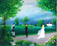Le marié - Huile sur toile (42*34)