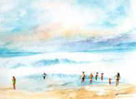 Baignade - Aquarelle (30*40) - Vendu