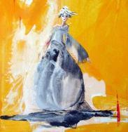 La danseuse - Huile sur toile (24*30)