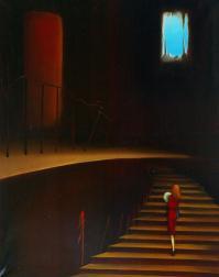L escalier Huile/toile (92*73)