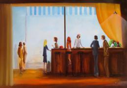 Le bar - Huile/toile (60*70)