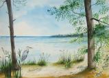 Le héron  - Le lac (30*40) vendu
