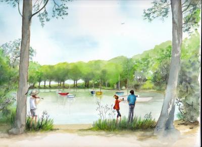 Le port de piqueyrot lac d'Hourtin