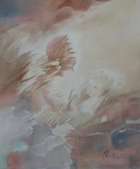 Maternite - Huile sur toile (55*45) Offert