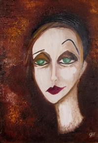 Pierrot - Huile sur toile (33*46)
