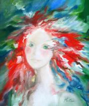 Portrait enflammé - Huile/toile (55*45) - vendu